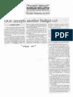 Manila Bulletin, Sept. 12, 2019, DOF accepts another budget cut.pdf