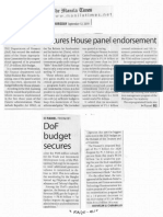 Manila Times, Sept. 12, 2019, DoF budget secure House panel endorsement.pdf