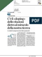 I prof si citano da soli - Il Corriere della Sera del 12 settembre 2019