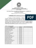 Edital CCTA n. 02-2018 - II Retificação Da Homologação Das Inscrições