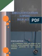 Emulsification Lipids