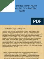 Ppt Sumatera Barat Potensi Sda Dan Sdm