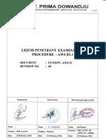 1. Penetrant Test Procedure AWS D1.1