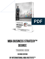 MBA Business Strategy Degree Training Book