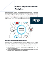 Deriving Business Importance From Marketing Analytics