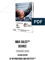 MBA Sales Degree Training Book
