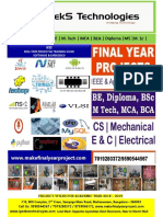 Civil Engineering Project List 2019-20_IGEEKS TECHNOLOGIES