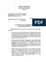 Petition for Notarial Commision (New)