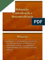Aula 11 - Capítulo 7 - Delegação, Centralização e Descentralização[1]