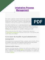 Administrative Process Management.docx