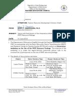 Advisory-Venue PPST Training on RP