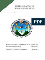 Examen Final Practico de Programacion Cientifica II