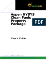 Aspen HYSYS Clean Fuels V7_0-User Guide