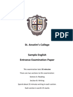 3 40 English Sample Paper 2
