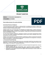 Business Management 1B Project Question