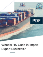 What is HS Code in Import Export Business?