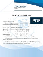 Azgh College History