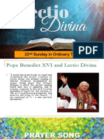 Lectio Divina 22nd Sunday in Ordinary Times C