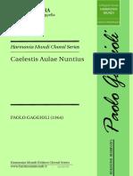 GAGGIOLI - CAELESTIS AULAE NUNTIUS