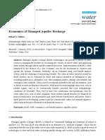 Economics of Managed Aquifer Recharge