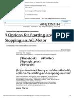 3 Options Start-Stop AC Motor