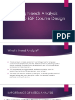 Relating Needs Analysis Result to ESP Course Design