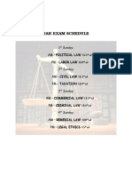 Bar Exam Schedule