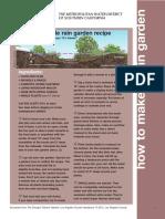 South Carolina Rain Garden Manual