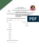 D. Questionnaire