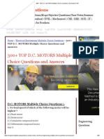 300+ TOP D.C. MOTORS Multiple Choice Questions and Answers Pdf