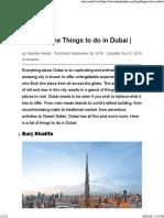 Planning a Dubai trip