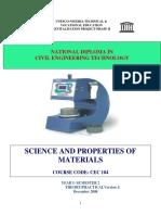 Science & properties of materials
