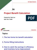 Benefit Calculation - Ward