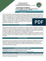 Plan Anual de Trabajo 2019 - 2020 Fisica