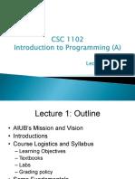 Lecture 1 c++