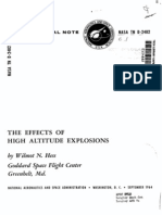 NASA TN D-2402 Effects of High Altitude Explosions