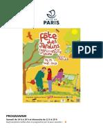Programme Fête des Jardins 2019