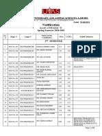 Pharm-D 2nd Semester