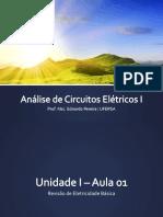 Unidade I - Aula 02 - Revisão de Eletricidade Básica, Fontes Dependentes
