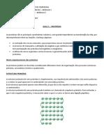 Apostila de bioquímica -proteinas