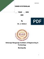 III II Ps Lab Manual