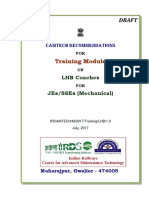 Draft Training Module on LHB Coaches for JEs SSEs