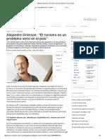 """Alejandro Grimson_ """"El Racismo Es Un Problema Serio en El País"""""""