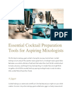 Essential Cocktail Preparation Tools for Mixologists