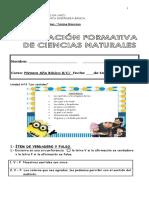 Evaluación Formativa Unidad 3 Ciencias Naturales - Copia