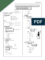 Leyes de Exponente - Algebra-convertido