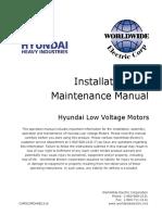 Hyundai Installation and Maintenance Manual