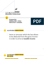 Ppt allowable deductions for corporation