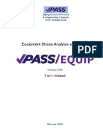 PASS/EQUIP Pressure Vessel Design and Analysis Software User's Guide