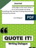 Dialogue Presentation
